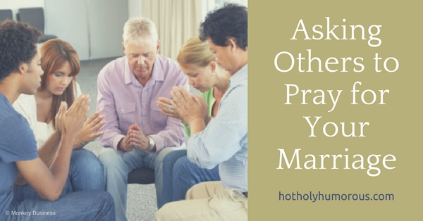Blog post title + small group of believers praying together