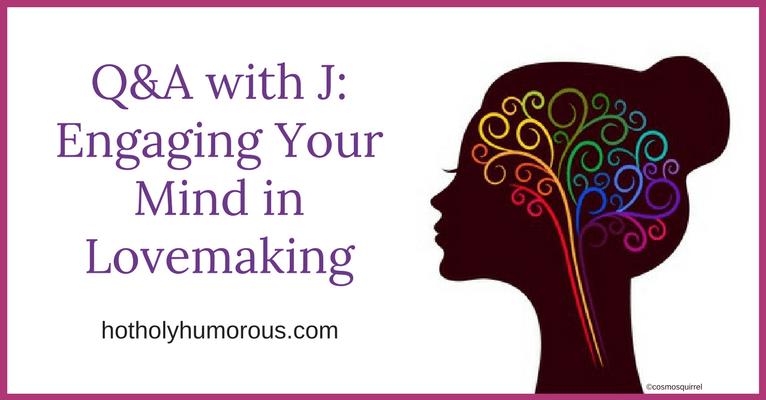 Blog post title + silhouette of woman with colored lines swirling through her head