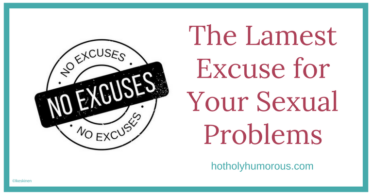 "Blog post title + illustration of rubber stamp that says ""NO EXCUSES"""