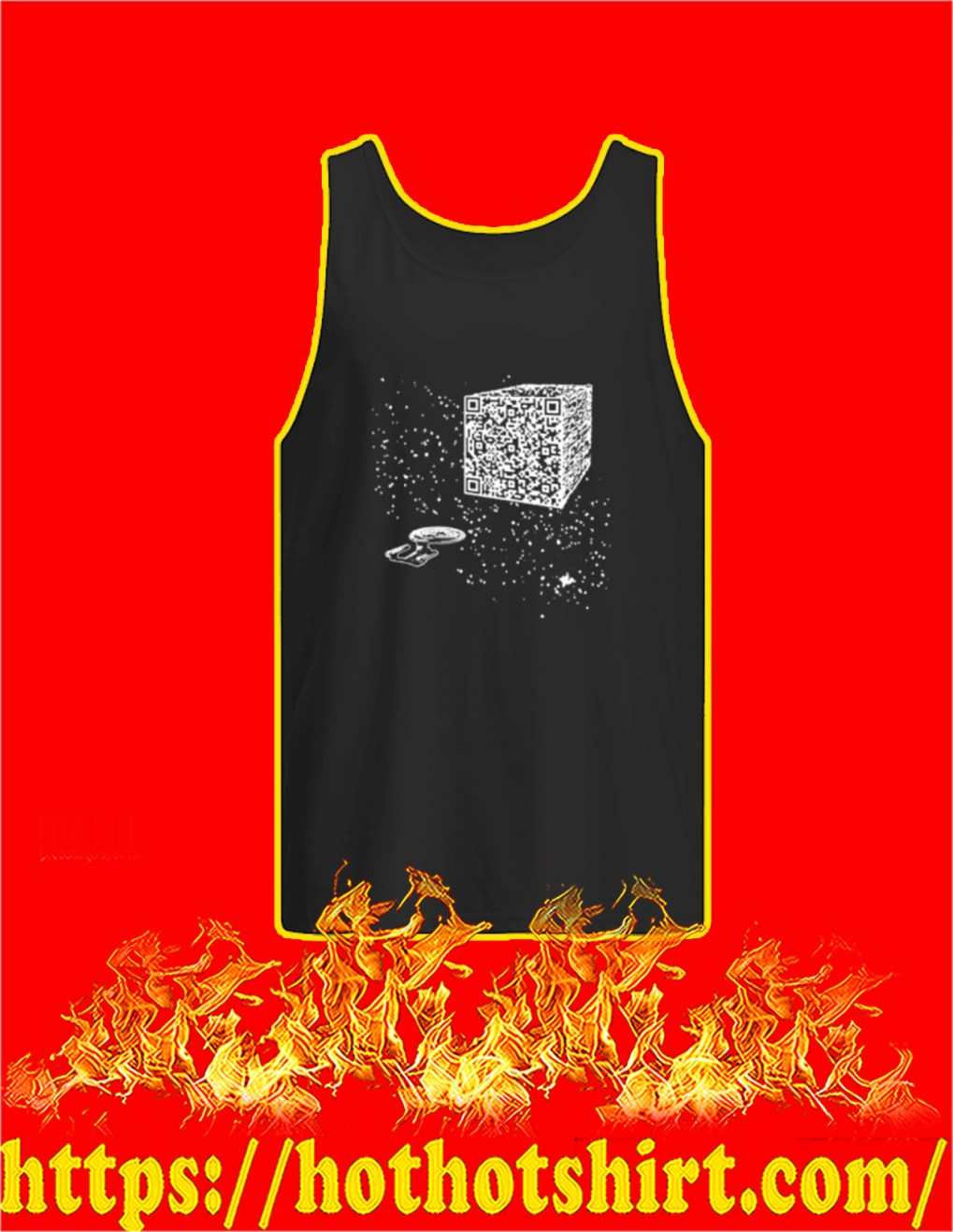 We are the borg cube QR code tank top