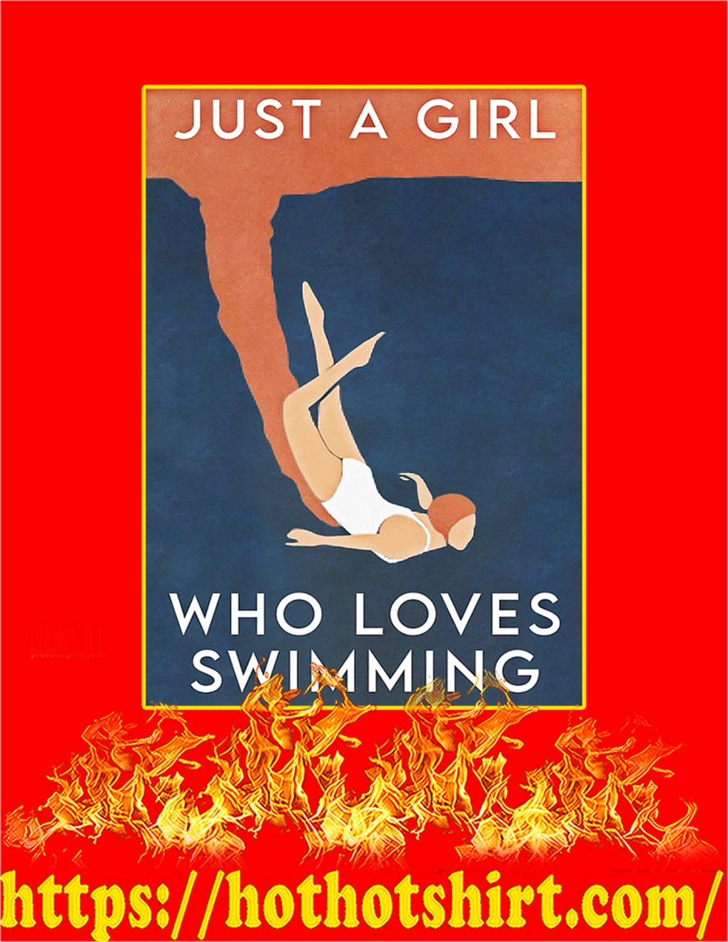 Just a girl who loves swimming poster - A2