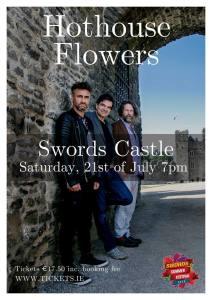 Peter, Fiachna and Liam outside Swords Castle