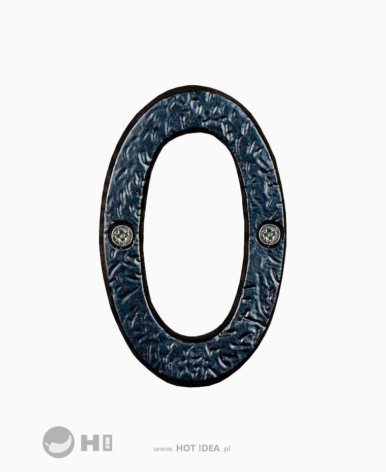 Żeliwna cyfra na drzwi, oznaczenie pomieszczenia, oznaczenie domu, oznaczenie mieszkania.