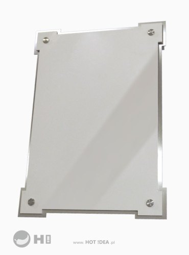 Tablica pamiątkowa z materiałów łączonych - tablica ze stali nierdzewnej i polerowanej tafli w kolorze kremowym