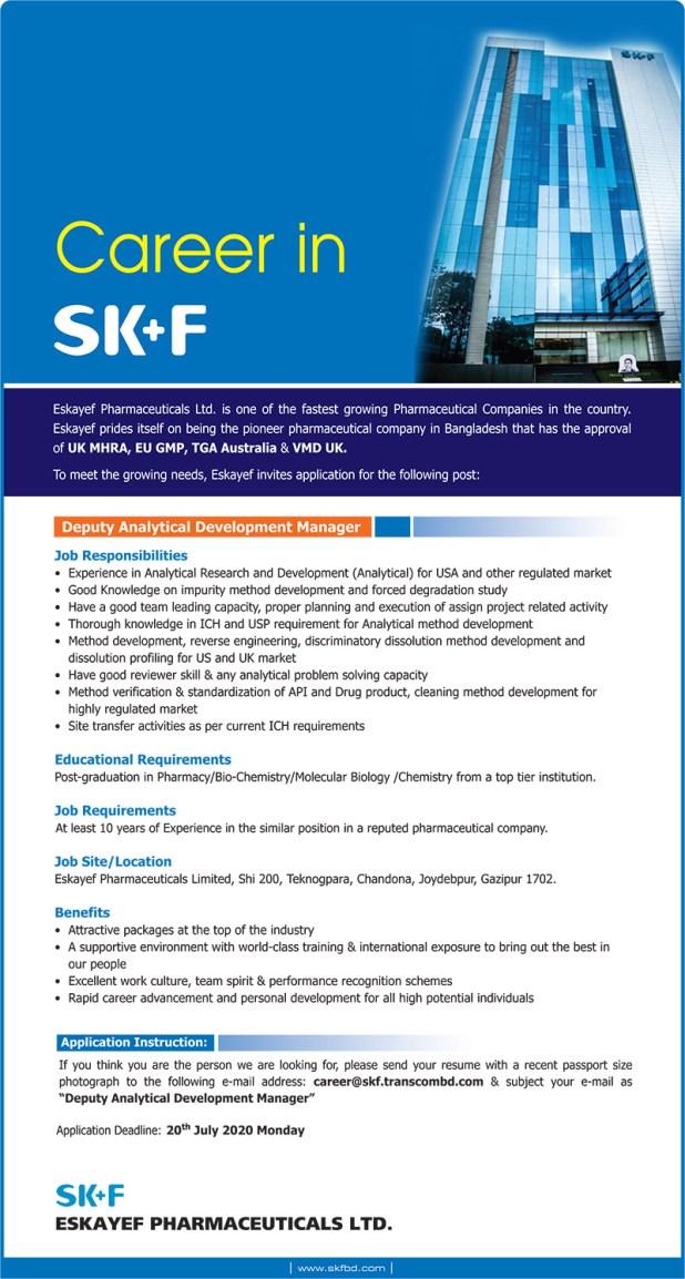 Eskayef Pharmaceuticals Job Circular (SK+F) Job Circular 2020