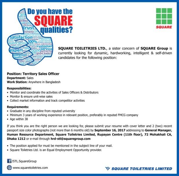 Square Group Job Circular 2017