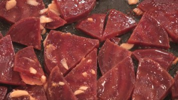 Hot Kitchen Garlicky Beets Recipe Demonstration
