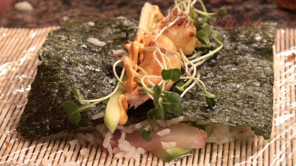 Hot Kitchen Sushi Roll Recipe Demonstration