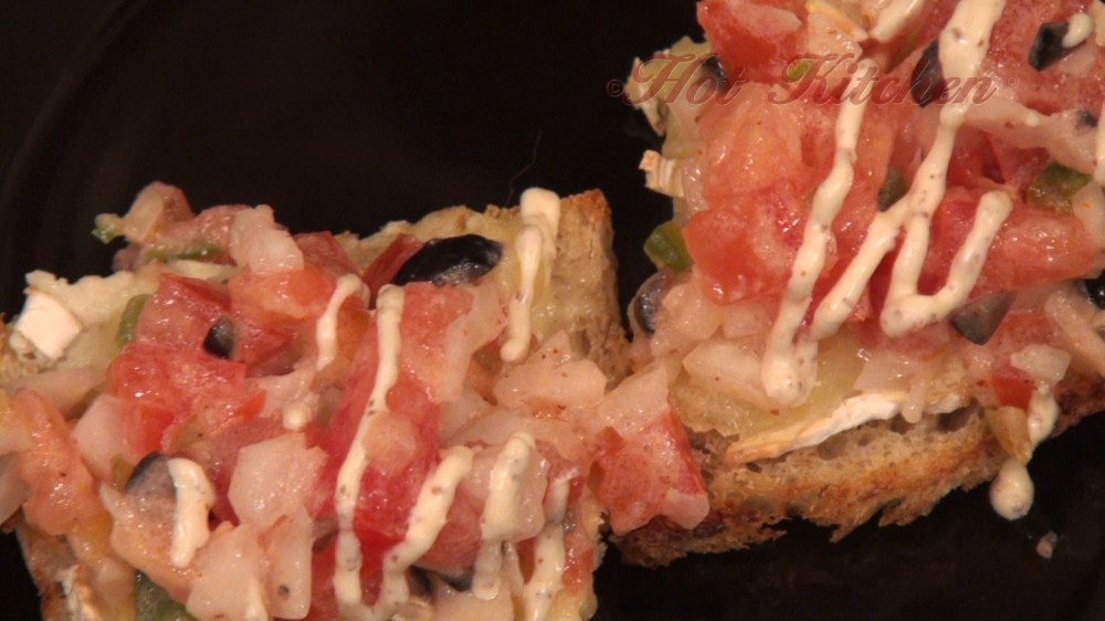 Hot Kitchen Brie Canapes with Cajun Bruschetta Recipe Demonstration
