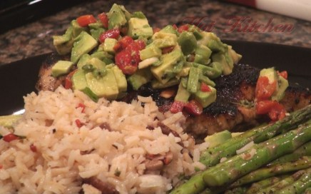 Hot Kitchen Grilled Chicken with Avocado Bruschetta Recipe Demonstration