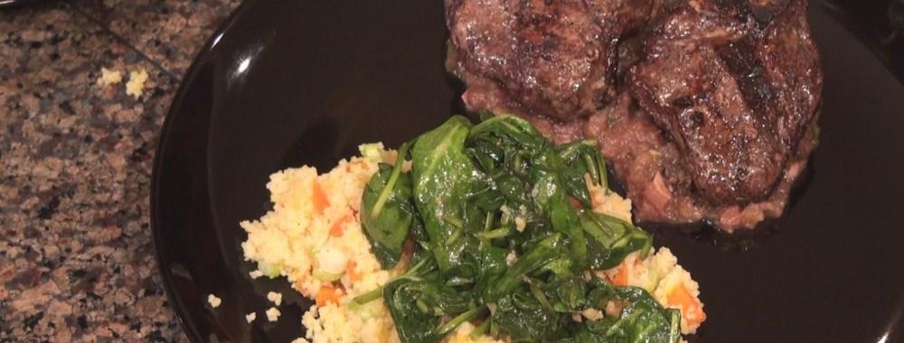 Hot Kitchen Mint Apple Lamb Chops Recipe Demonstration