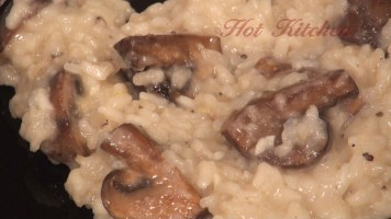Hot Kitchen Mushroom Risotto Recipe Demonstration