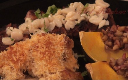 Hot Kitchen - Steak with Scallop Butter Recipe Demonstration