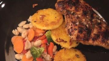 Hot Kitchen Tuscan Grilled Chicken, Polenta Medallions, Stewed White Beans Recipe Demonstration