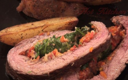 Hot Kitchen - Stuffed Flank Steak Recipes Demonstration