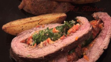 Hot Kitchen - Stuffed Flank Steak Recipes Demonstration