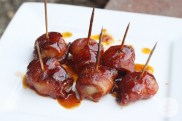 RECIPE: http://ohsodelicioso.com/bacon-wrapped-water-chestnuts/