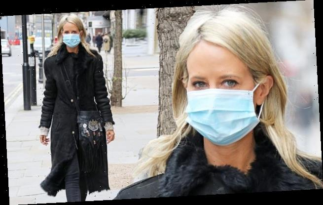 Lady Victoria Hervey takes no chances with coronavirus and wears mask   Hot  Lifestyle News