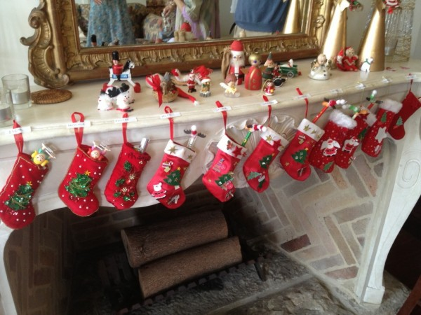 'The stockings were hung by the chimney with care in hopes that St Nicholas soon would be there'