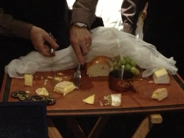 Preparing the cheese platter