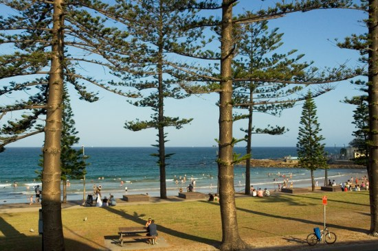 Dee Why Beach at around 7pm at night on a very hot summer's night