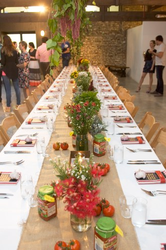 The setting for the Leggo's Vine Ripe dinner