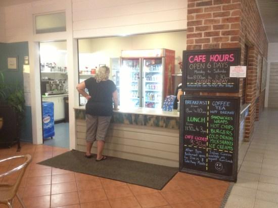 Cafe - not open on Sundays