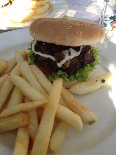 Carl's beef burger