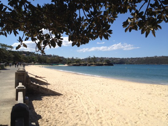 Across the road from Bottom of the Harbour is one of Sydney's best beaches