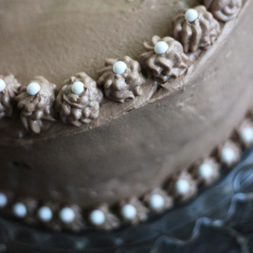 Decorated with Rosettes and pearls