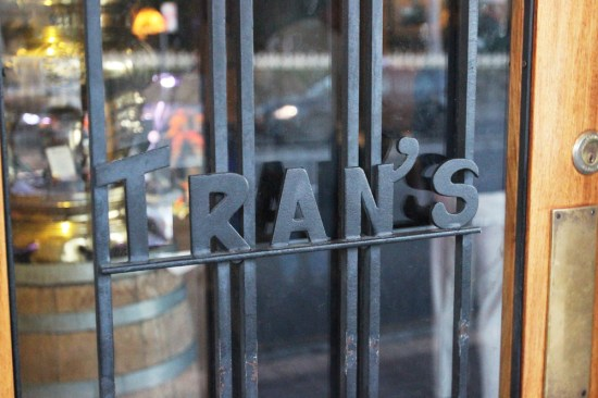 The entrance to Tran's
