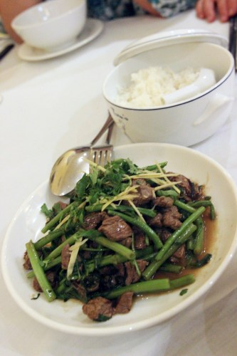Eye-fillet of beef with  morning glory $28.00