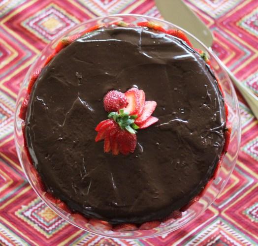 A gluten-free chocolate cake