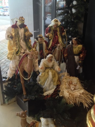 An enormous Nativity scene