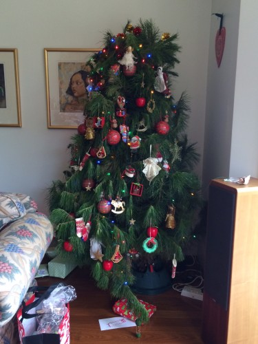 The tree.  We did ask my father what happened to the top of it but no, that's how it was sold to him!