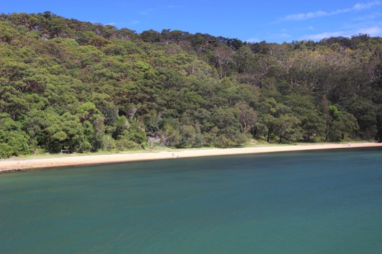 One of the beaches you can bush walk to