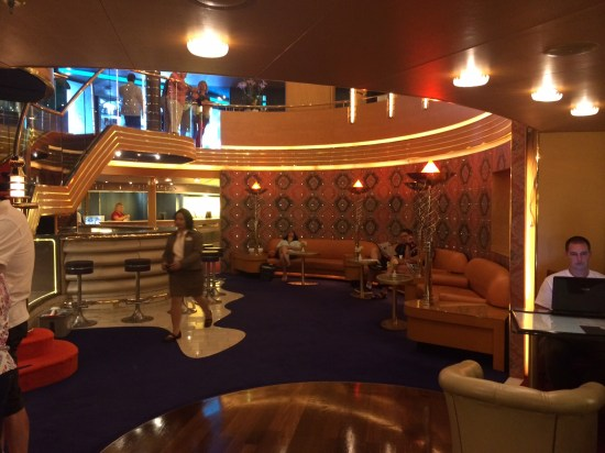 The Vista Lounge - centre of wonderful entertainment.