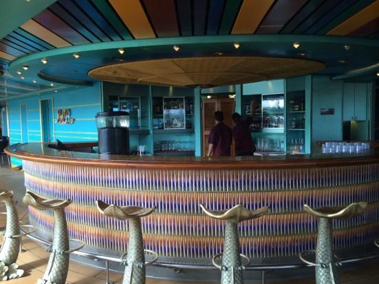 Lido pool bar with fish bar stools