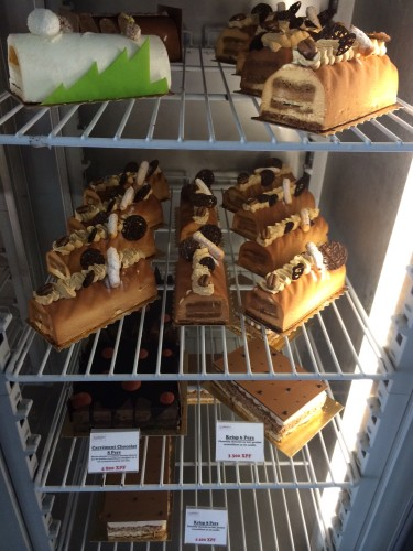 A tiny part of the selection at the patisserie