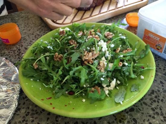 Rocket and Toasted Walnut Salad with Pomegranates