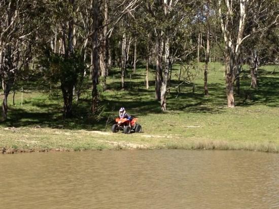 Alfie on the quad bike