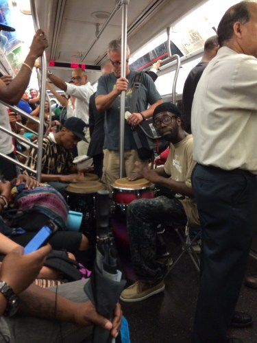 Good to bring your drum kit on the train