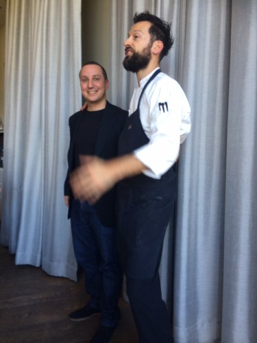 Chefs and good friends, Luca Ciano and Gabriele Taddeucci
