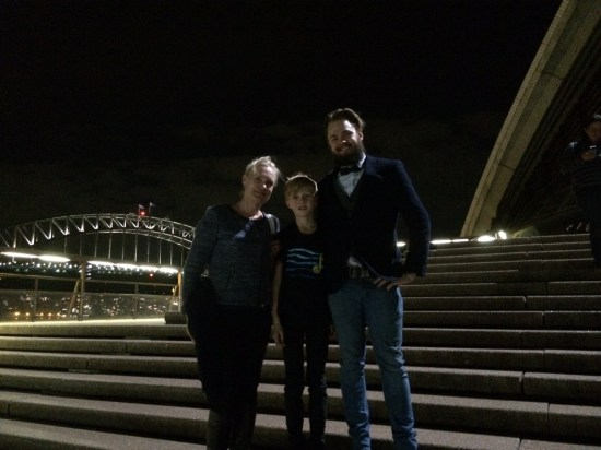On the steps of the Opera House after the concert