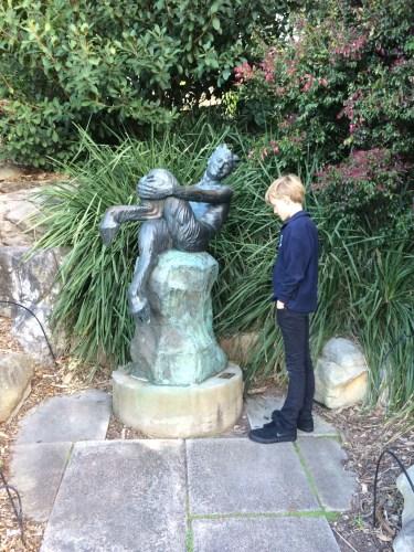 Half-man, half-beast sculpture