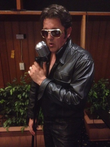Elvis in his leathers