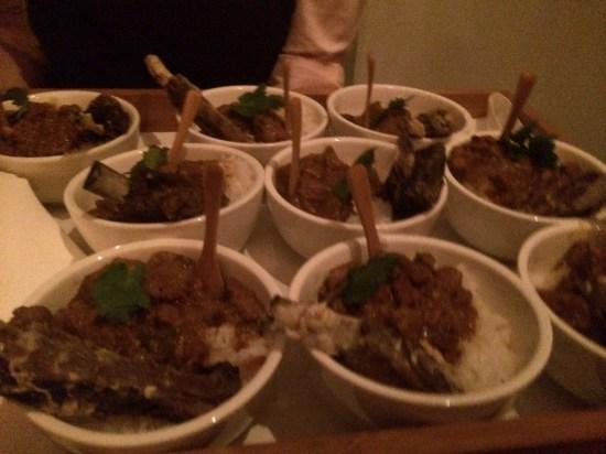 Lamb curry with a crispy lamb rib