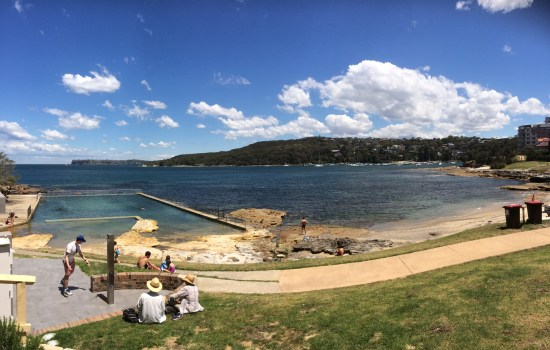 Fairlight pool and beach
