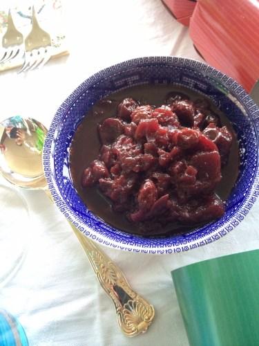 Homemade cherry chutney