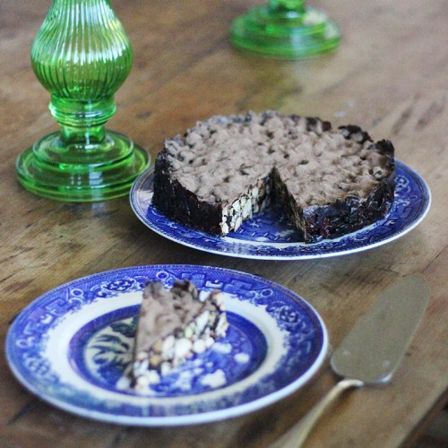 Dark-chocolate and sour-cherry panforte